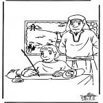 Kolorowanki Biblijne - Mojżesz 3