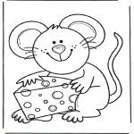 Zwierzęta - Myszka z serem