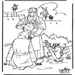 Kolorowanki Biblijne - Namaszczanie Dawida