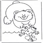 Zwierzęta - Niedźwiedź i żaba
