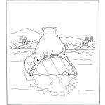 Zwierzęta - Niedźwiedź polarny na beczce