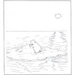 Zwierzęta - Niedźwiedź polarny na krze