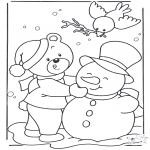 Zima - Niedźwiedź w Śniegu