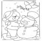 Niedźwiedź w Śniegu