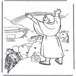 Kolorowanki Biblijne - Noa i tęcza