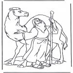 Kolorowanki Biblijne - Noa na wielbłądzie