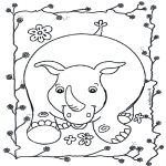 Zwierzęta - Nosorożec 2