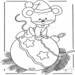 Zima - Obrazki Myszka z Bombką