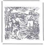 Kolorowanki Biblijne - Ochrzczony Jezus