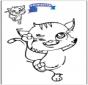 Odrysowanie - kot