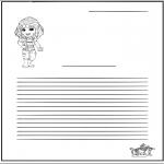Maisterkowanie - Papier listowy Dziewczyna