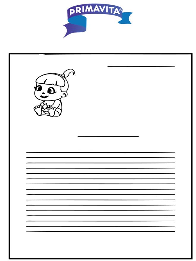 Papier listowy Primavita Dzidzia - Papier Listowy