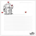 Tematy - Papier Listowy Walentynki