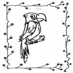 Zwierzęta - Papuga na patyku