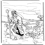 Kolorowanki Biblijne - Pasterz
