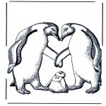 Zwierzęta - Pingwin i maluszek