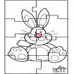 Tematy - Puzle Zajączek Wielkanocny 3