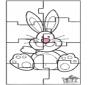 Puzle Zajączek Wielkanocny 3