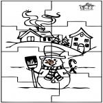 Maisterkowanie - Puzzle bałwan
