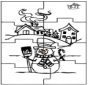 Puzzle bałwan