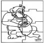 Puzzle - małpa