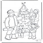 Boze Narodzenie - Rodzina w Śniegu
