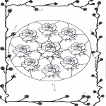 Mandala's - Różyczkowa Mandala 2