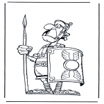 Bohaterowie Z Bajek - Rzymski żołnież Asterix