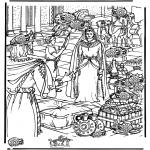 Kolorowanki Biblijne - Sheba ' odszukaj 15 dzbanków