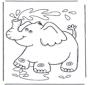słonik z wodą