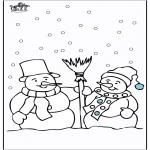 Zima - Śniegowy Bałwan 4