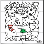 Boze Narodzenie - Święty Mikołaj - Puzzle
