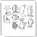 Zwierzęta - Tablica z rybami