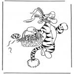 Bohaterowie Z Bajek - Tygrysek jako Wielkanocny Zajączek