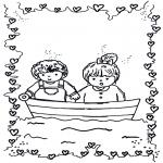 Tematy - Walentynka łódeczka
