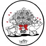 Tematy - Walentynki Kartka do Kłucia 3
