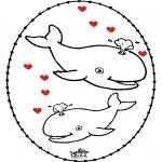 Tematy - Walentynki Kartka do Kłucia 4