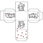 Tematy - Walentynki Pudełko na Prezent