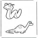 Zwierzęta - Wąż i dinozaur