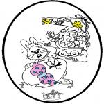 Tematy - Wielkanoc - Haftowanie kartki 1