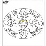 Tematy - Wielkanoc - Mandala 1