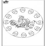 Tematy - Wielkanoc - Mandala 2