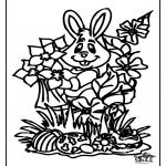 Tematy - Wielkanocny Zając Okno Kolor