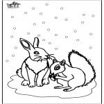 Zima - Wiewiórka i Króliczek