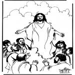Kolorowanki Biblijne - Wniebowstąpienie 1