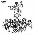 Kolorowanki Biblijne - Wniebowstąpienie 2