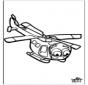 Wycinanka Helikopter