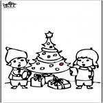 Boze Narodzenie - Wykłówanka - Choinka 4