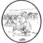 Kolorowanki Biblijne - Wykłuwanka Biblijna 4