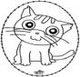 Wyszywanka - kot